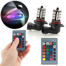 2x RGB 9006 HB4 5050 27-SMD LED Fog Lights Bulbs Driving DRL Remote Control Kit