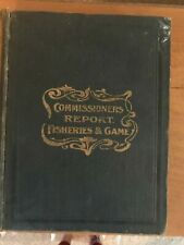Rare 1902 Indiana Commissioners Report Fisheries and Game Book