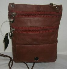 New Men/Women genuine Leather Messenger/Shoulder Bag Cross body belt Pack Small