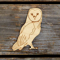10x Wooden Barn Owl Perching Craft Shape 3mm Ply Bird Deciduous Farm Animal