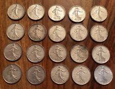 LOT 20 PIECES DE 5 Francs La SEMEUSE ARGENT SILVER 1960 1963