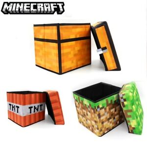 Minecraft Storage Box Organizer Cube TNT Chest Blok From Minecraft With Lid
