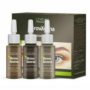 Brow Xenna BrowXenna Set Eyebrow Brow Henna: Brown, Blond, Levchuk