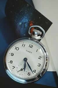 1970s Smiths Pocket Watch - Timex Dial - Blued Hands