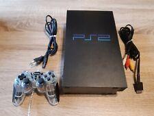Sony PlayStation 2 Schwarz Spielekonsole Fat + 10 Gratis Spiele