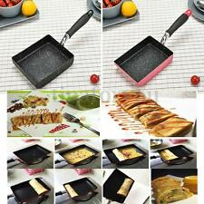 Pink / Black Aluminium Square Induction Heat Non-stick Frying Pan 180x130mm