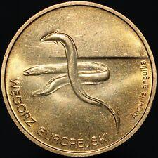 More details for 2003 | poland 2 zlote 'węgorz europejski (anguilla anguilla)' | brass | km coins