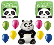 Panda Pandemonium Jungle Zoo Happy Birthday Party Full Mylar Latex Balloons Set