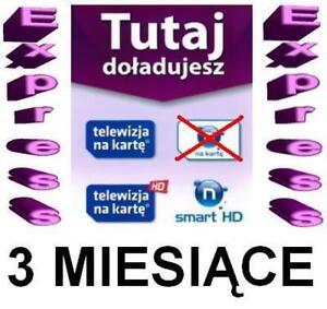 TNK Smart HD+ SD Doladowanie 3M Telewizja na karte Aufladung TVN Polsat Conax