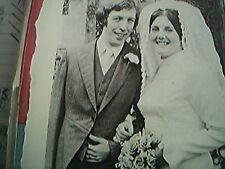 ephemera 1974 kent picture wedding m a lawfield miss sally ashenden canterbury