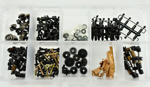 ATLAS N SCALE PARTS WHEEL SET, BEARING RETAINER, GEAR ...WITH STORAGE BOX