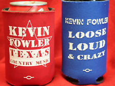 Rare Pr Vintage Kevin Fowler Drink Koozies Coozie Texas Country Music Budweiser