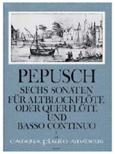 Sechs Sonaten für Altblockflöte oder Querflöte und basso continuo - Vol 1 (Sonat