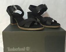 Brand New Timberland Woman's Tallulah May Backstrap Shoes UK 7 - Blk Full Grain
