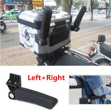 2PCS Universal Folding Motorcycle Top Case Box Rear Seat Armrest Accessories