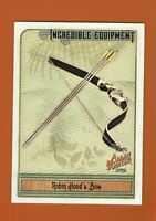 2019 Topps Allen & Ginter Incredible Equipment Robin Hood's Bow IE-2