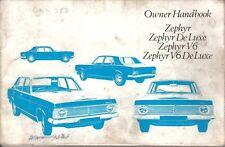 Ford Zephyr V4 & V6 & De Luxe models Mk 4 1967-1972 Original Owners Handbook