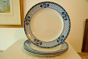 1 SINGLE ANTIQUE FLOW BLUE DINNER PLATE - FORD & SONS - CLIFTON PATTERN