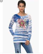 DESIGUAL Jers Carlota Long Sleeve Top Sweater Size L