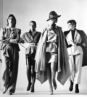 1981 Vintage Matted HELMUT NEWTON Female Models Dressed Fashion Photo Art 16x12