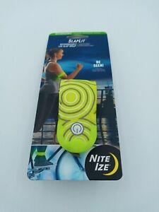 Nite Ize SlapLit Rechargeable Slap Wrap Yellow LED Armband Safety Running Biking