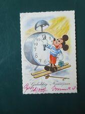 """Carte postale en couleur """"MICKEY EN SOUHAITANT LA  BONNE ANNEE """" en Néerlandais"""