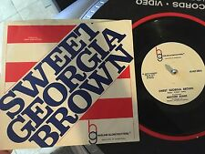 HARLEM GLOBETROTTERS THEME SONG RECORD picture sleeve tested Sweet Georgia Brown
