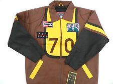 """1990's """"SCUBA GEAR"""" Leather Jacket / US Men size: XL / Deadstock / Made in Korea"""