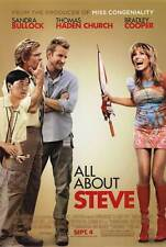 ALL ABOUT STEVE Movie POSTER 27x40 Sandra Bullock Thomas Haden Church Bradley