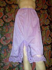 Vintage Velrose Purple Lacy Silky Nylon A-line Half Slip S