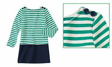 NWT GYMBOREE Fairy Tale Forest Striped Colorblock Cotton Dress Girl Size 5 or 8