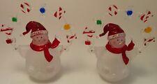 Set of 2 Noel snowman figurines