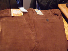 NWT DOCKERS STRAIGHT FIT D2 CORDS CORDUROY PANTS BROWN 36X32