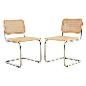 Cesca Chair   Designed by Marcel Breuer   Set of 2   Made in Italy