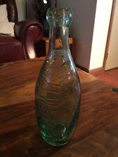 Vintage Rare Schweppes Large Glass Bottle Beautiful Posy Flower Bottle