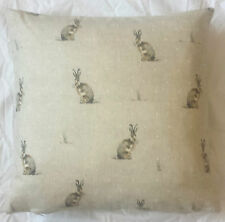 Hare 100% Cotton Cushion Cover Pillow Case 43cm Ideal Gift UK MADE