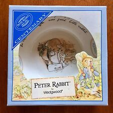 Wedgwood Peter Rabbit Flopsy Mopsy Cottontail Cereal Bowl England Bunny - Nib