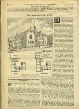 1896 Deutsche Bauzeitung # 12 Progymnasium in Linz Rhein Blackwall Tunnel London