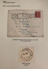 1947 Sunderland England Cover To South East Asia Command In Maymyo Burma