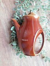 More details for vintage retro holkham pottery owl tea / coffee pot brown uk seller *****