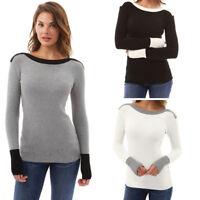 Womens Winter Long Sleeve Sweater Blouse Ladies Sweatshirt Jumper Pullover Tops