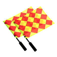 The World Cup Soccer Referee Flag Sports Match Football Linesman Equipment.