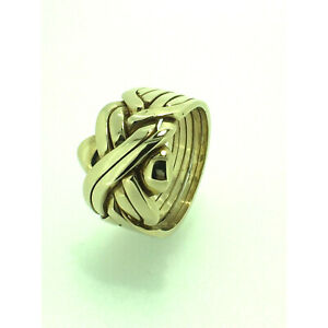 Puzzle Ring by Herron Puzzle Ring 9ct Gold Six Piece Yellow Gold Size (Z-Z+4)