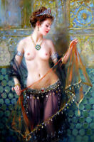 Beautiful dancing nude girl Oil Painting HD Giclee printed on canvas L1867