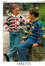 Retro Knitting Pattern, Sirdar, Childs Cardigans, 24-32in, 4784