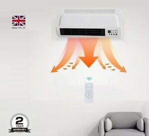Wall fan Heater 7 DAY Timer PTC  bathroom workshop electric wall mounted Remote