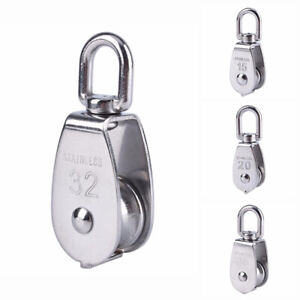 Stainless Steel Pulley Single Block Rotating Wheel Lifting Rope M15/20/25