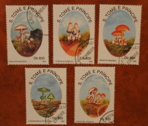 Sao Tome e Principe 1993 Pilze gestempelt