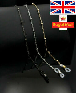 Reading Glasses Neck Chain Cord Lanyard Spectacles Sunglasses Metal Strap Holder