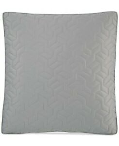 Hotel Collection Euro Pillow Sham Cubist Quilted Grey Luxury Modern 26 x 26 New